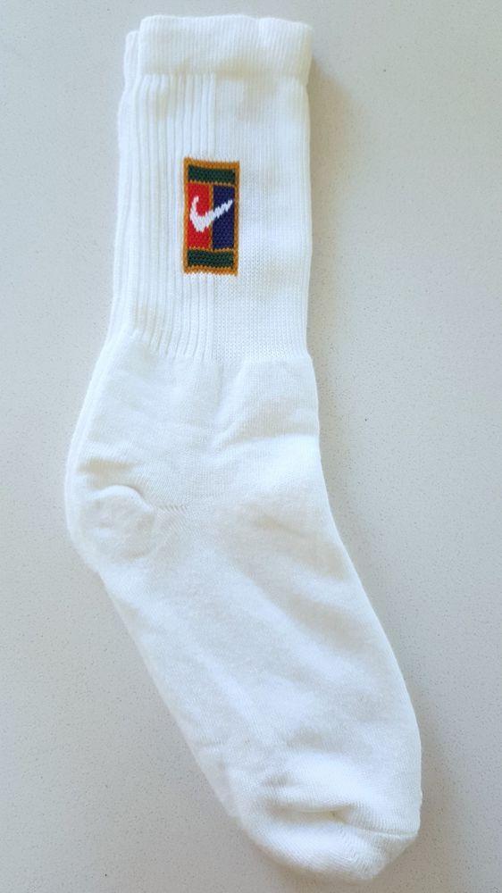 Vtg 90 S Nike Supreme Court Tennis Socks Sampras Agasso Federer Rare Og 1 Pair Nike Sportssocks Vintage Sportswear Ebay Shopping