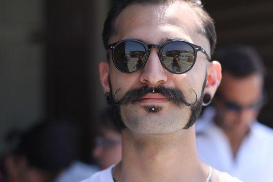 The modern men's moustache.