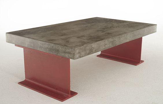 Mesa centro microcemento gruesa rutilo mesas portobello for Portobello muebles online