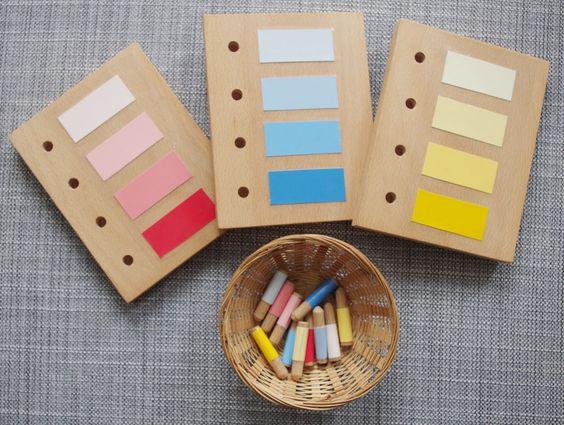 DIY Montessori, Farblehre, Steckspiel selbst gemacht, Emil und Mathilda, Montessori-Momente