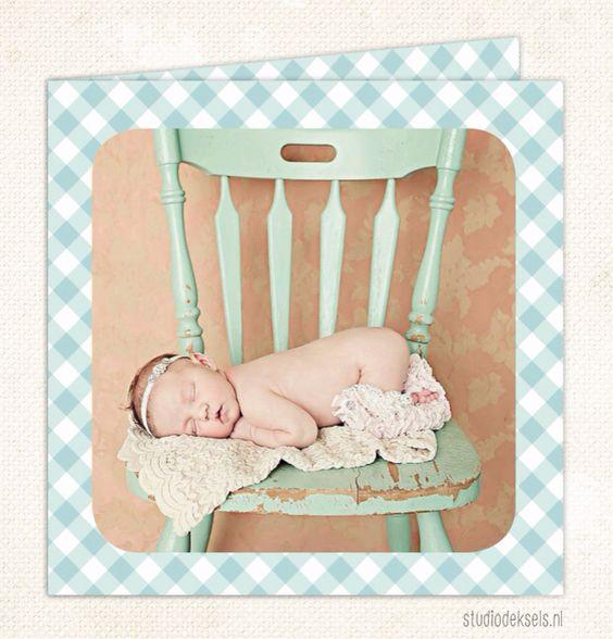 Studio Deksels • geboortekaartjes • ruitje • unisex