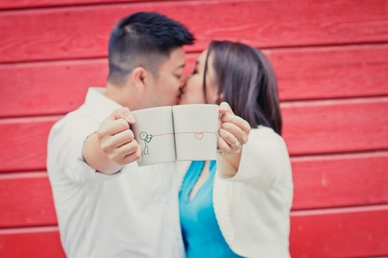 Love these connecting mugs! Photo by Denise Lin Photography