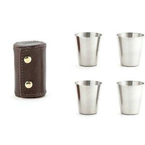 Amazon.com: Kikkerland Metal Shot Glasses: Kitchen & Dining