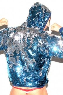 PLATINUM STAR HOODIE - Street & Swim | SLICK IT UP: Spandex Fetish Gear for Men