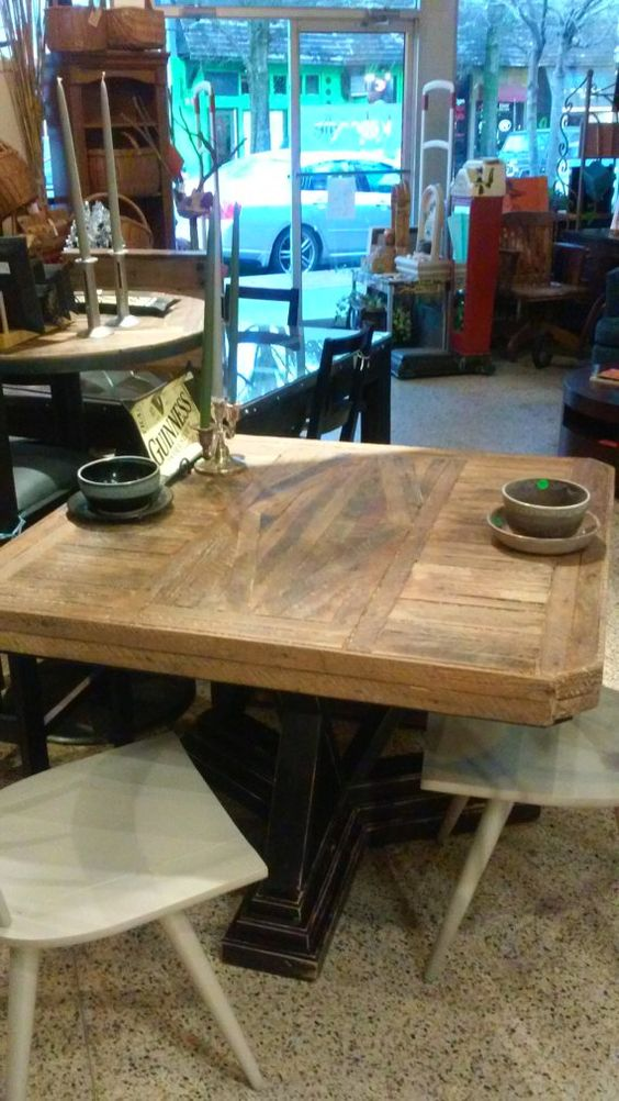 Reclaimed Wood Dining table by KaboodleHomeAtlanta on Etsy
