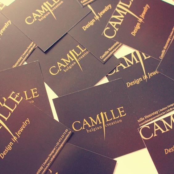 Carte de visite  Camille Belgian Creation