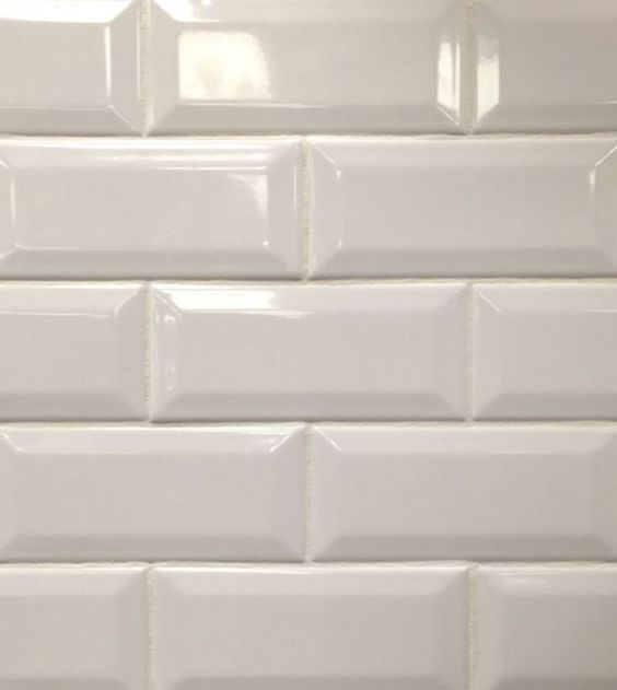 white beveled subway tile our new home pinterest