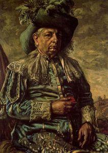 autoportrait dans un parc - (Giorgio De Chirico)