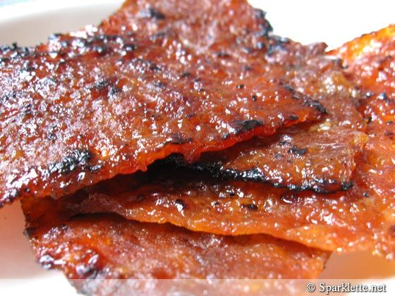 Bak Kwa (Pork Jerky)    A favourite of many, usually we just queue up for hours to buy this stuff in kilograms.