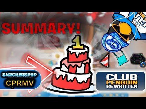 Club penguin rewritten 1st anniversary party summary club