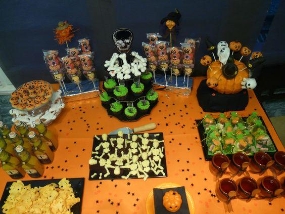 Mesa de Halloween. Ideas para un divertido Halloween con niños o sin niños.