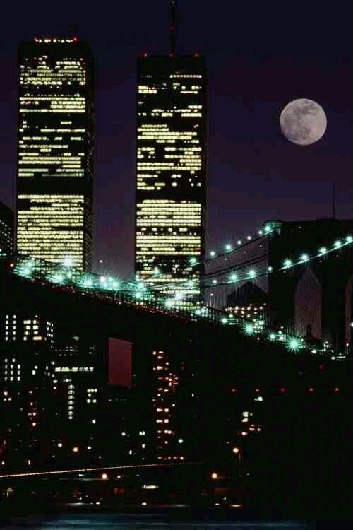 Twin Towers & Brooklyn Bridge