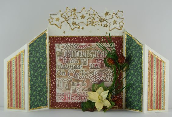 Lori Williams designing for @CraftersCompUS  Die'sire Edge'ables Christmas  Release : Twinkle, twinkle, Christmas greetings embossing folder