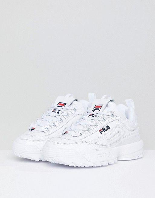 Fila Disruptor Trainers In White | Sneakers fashion, Fashion