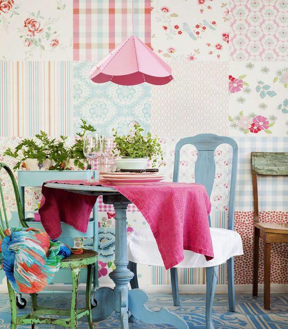 Sala de jantar vintage romântico | Eu Decoro: