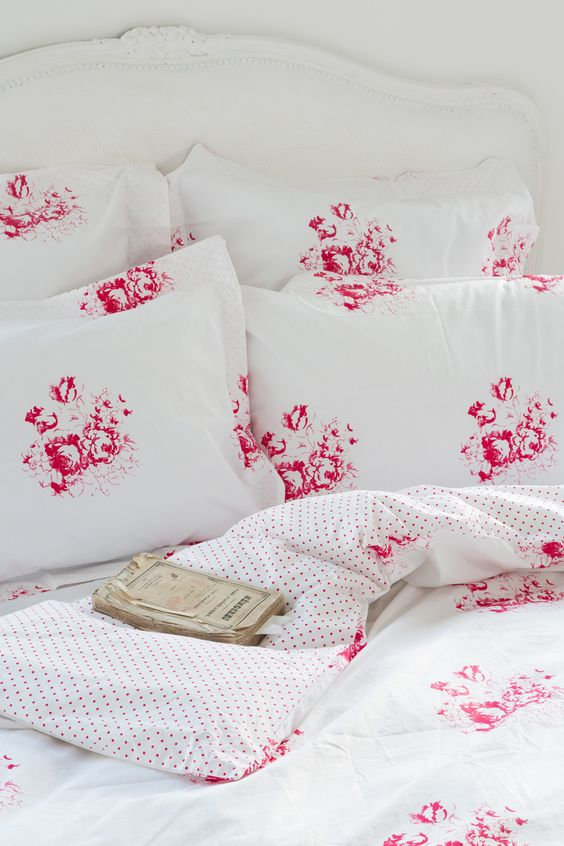 CABBAGES & ROSES for John Lewis | Hatley Cerise Bed Linen: