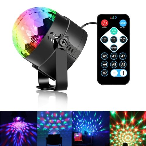 5 38 Youoklight Yk2278 3w Rgb Led Disco Stage Dj Lights Strobe Rotating Projector Light Sound With Images Led Party Lights Disco Party Lights Disco Ball Light