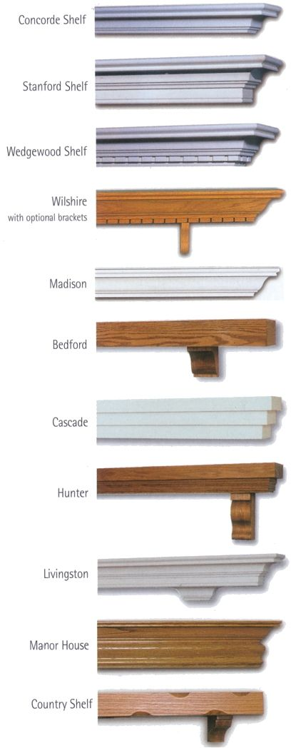 Different shelves styles for the mantle mantle for for Fireplace mantel shelf designs