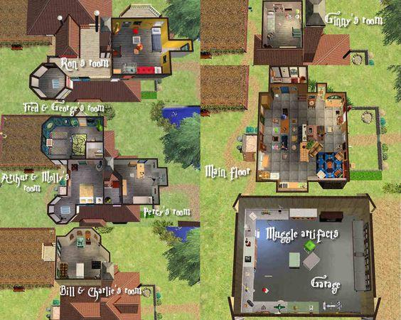 Weasley house floor plan