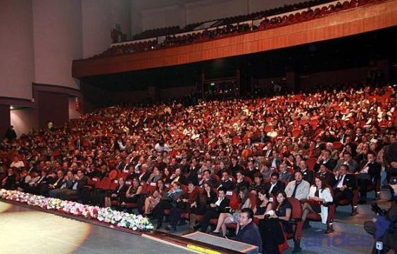 Quito City theater, full of people attending a conference