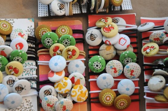 button covered hairbands