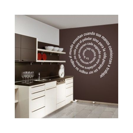 Vinilos decorativos para pared con frase personalizada en for Pegatinas para pared
