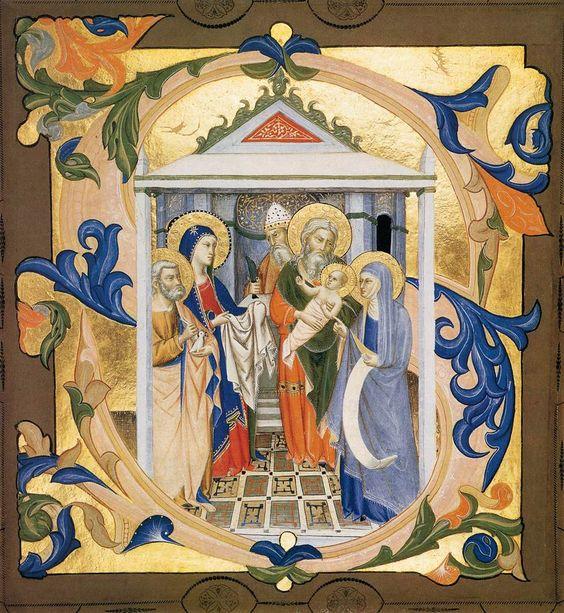 gradual from santa maria degli angeli folio c 1370 tempera and gold on parchment 189 x 174 mm fitzwilliam museum cambridge