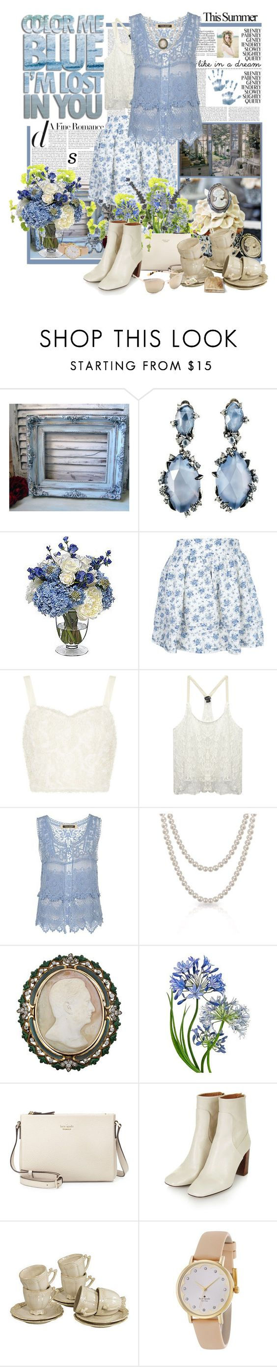 """""""Like In a Dream"""" by summersunshinesk7 ❤ liked on Polyvore featuring Mystique, Alexis Bittar, PEONY, FixDesign, Topshop, Wet Seal, River Island, Bling Jewelry, FRUIT and Kate Spade"""