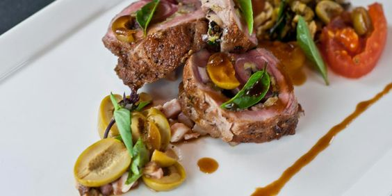 Wild Boar or Pork Tenderloin (Filet Mignon) Stuffed with Spanish Olives