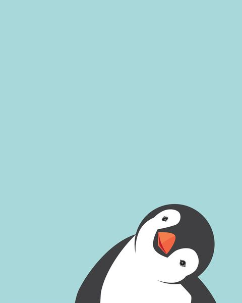 Penguin print by Marie Lucas. This little one reminds me of my own sweet penguin!