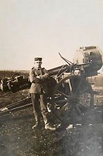 WW I German RPPC A German Army Private in a Scheinwerfzug Searchlight Section