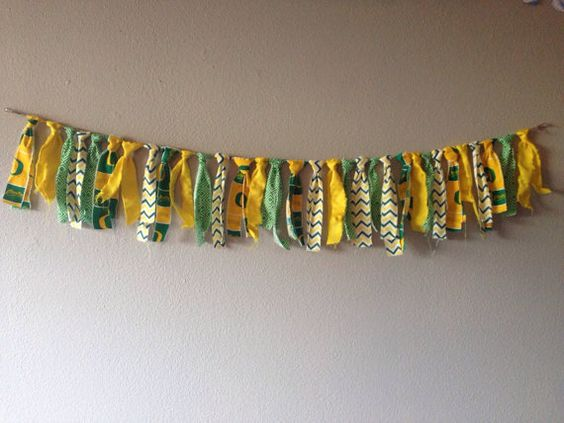 4 ft Oregon Ducks Ripped Fabric Banner by JadoreCraftsBoutique