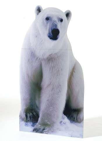 Pappaufsteller Eisbär 176x97 cm (H/B)
