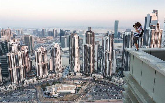 Russos escalam edifícios de Dubai e tiram fotos espetaculares
