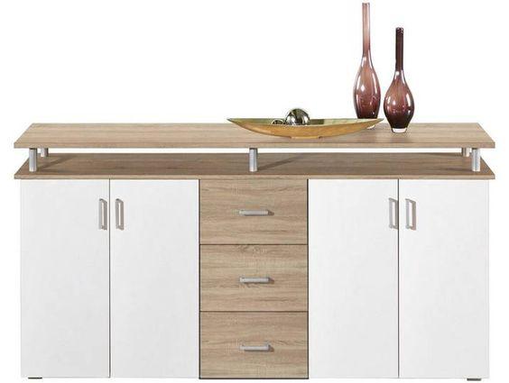 Boxxx Kommode Holz Weiss Sonoma Eiche B H T 180 90 40 Furniture Decor Home Decor
