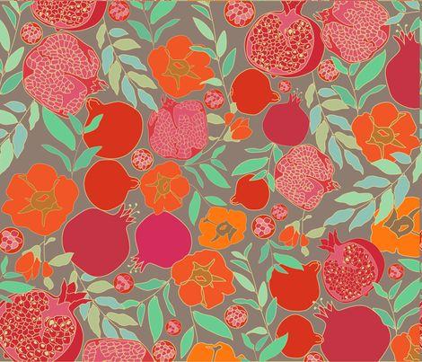 Pomegranates fabric by zeinab on Spoonflower - custom fabric
