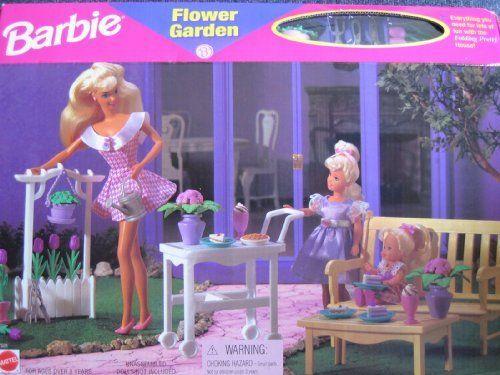 Barbie Flower Garden Playset - Folding Pretty House (1996 Arcotoys, Mattel) by Arcotoys, Mattel, http://www.amazon.com/dp/B002FBHQO0/ref=cm_sw_r_pi_dp_6uciqb1YK2GCW