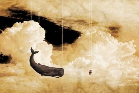 The Hitchhikers Guide To The Galaxy abstract surreal art