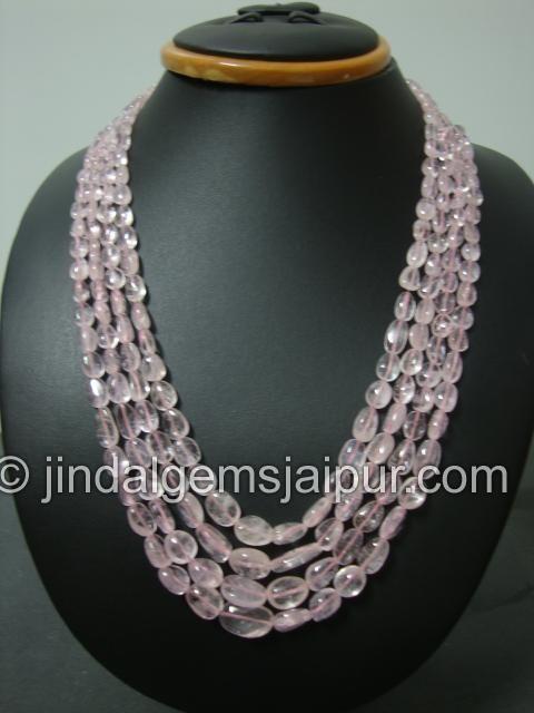 Morgonite Plain Nuggets Gemstone Beads.