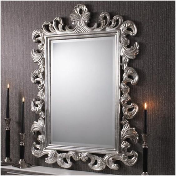 Beautiful baroque and antiques on pinterest for Baroque style wall mirror