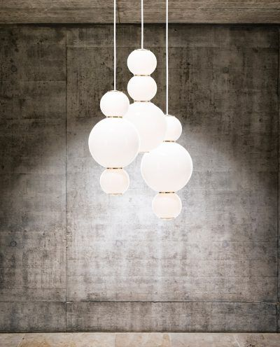 PEARLS Chandelier 3 pendant lamp dimmable LED - Formagenda