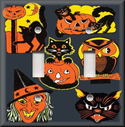 Light Switch Plate Cover - Vintage Halloween Home Decor - Cat ...