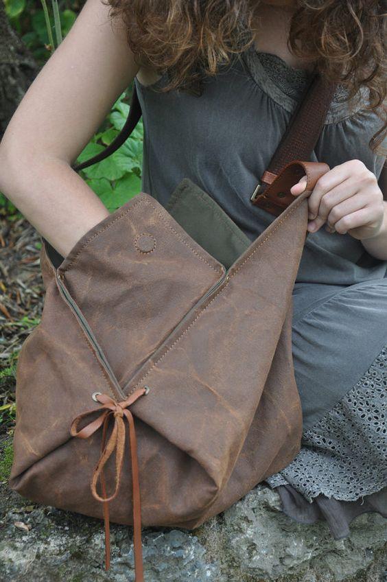 Hobo dans l'ensemble de corps de sac en toile par iyiamihandbags
