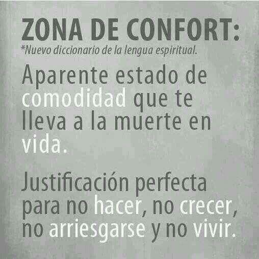 Zona de confort.....