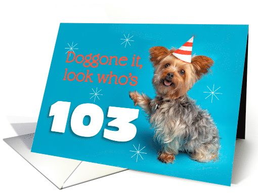YORKSHIRE TERRIER CUTE DOG GREETINGS NOTE CARD PRETTY LADY GREEN HAT WITH YORKIE