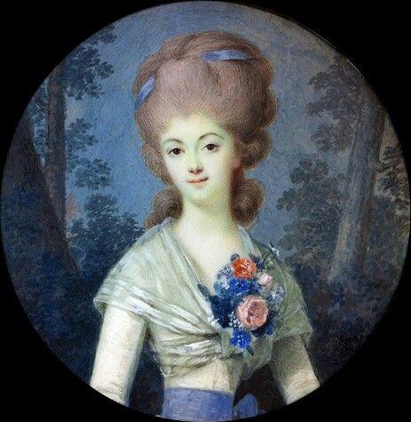 Portrait de Marie Thérèse Sophie Richard de Ruffey, marquise de Monnier, 1789 Louis Marie Sicardi