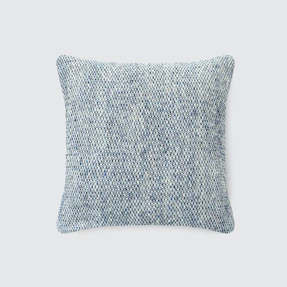 Laurel Tweed Pillow - Cobalt