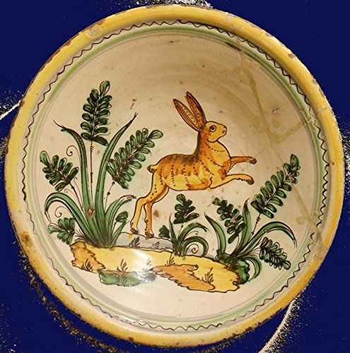 A Persian pottery hare bowl dish, Persia (16 - 18 th century) --- Islamic art --- Eastern Mediterranean ancient Iran dish plate art console column pilar pedestal socle commode buffet furniture cabinet secretaire wood marble ceramic porcelain rabbit earthware Anté-Matière http://www.amazon.co.uk/dp/2372490168/ref=cm_sw_r_pi_dp_zW46wb12R0E00