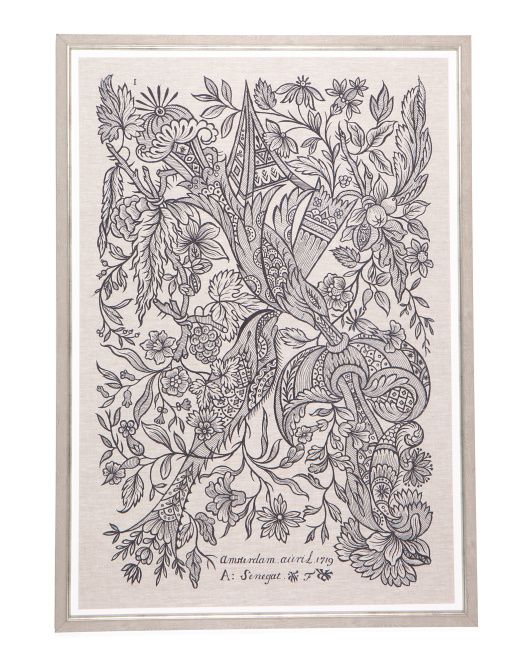 Dutch Embroidery Framed Wall Art In 2020 Embroidery Wall Art Floral Wall Art Framed Wall Art