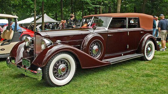 1934 Packard Twelve Model 1108 convertible sedan by Dietrich
